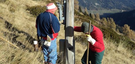 Nachimprägnierung Holzmasten mittels Impfstichverfahren