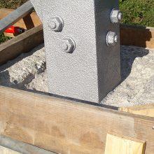 Sanierung von Betonstützen Wehrsteine.